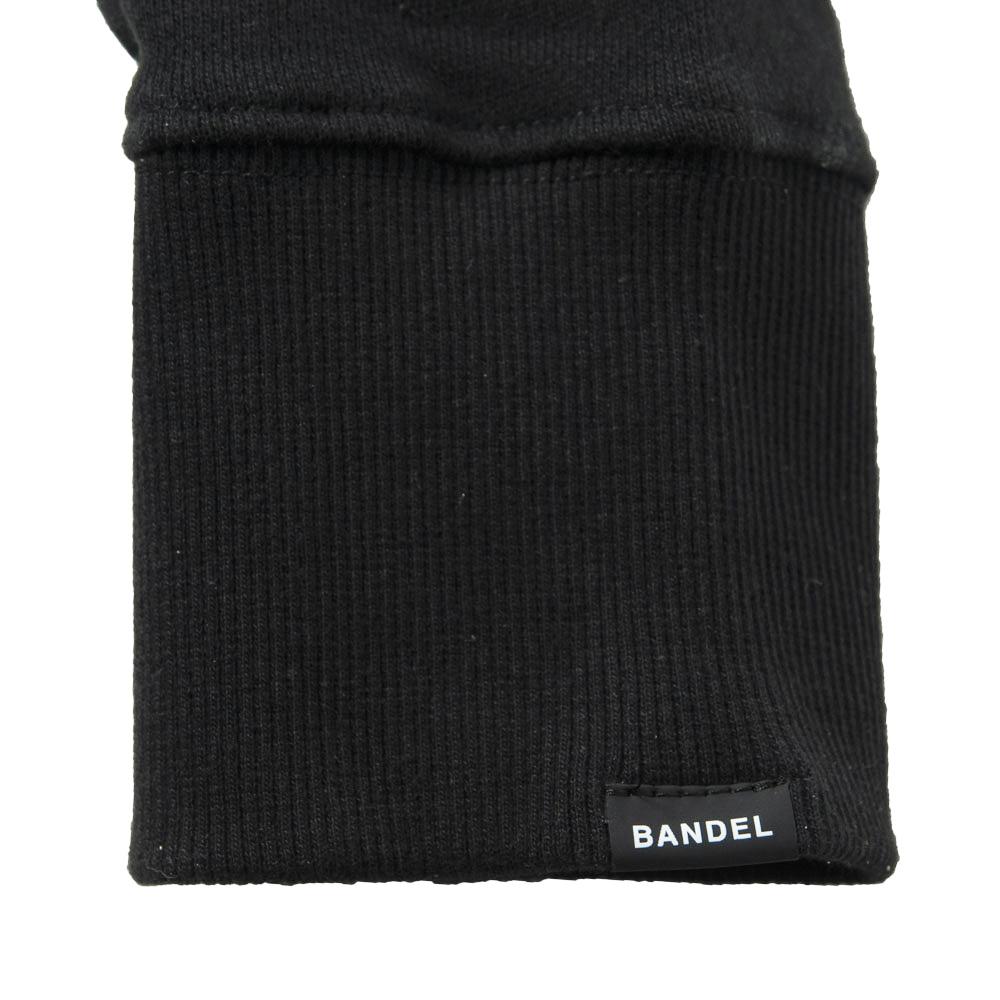 BANDEL スウェット QUIET GOLF CREW NECK BG-QTCNS001 BLACKxWHITE