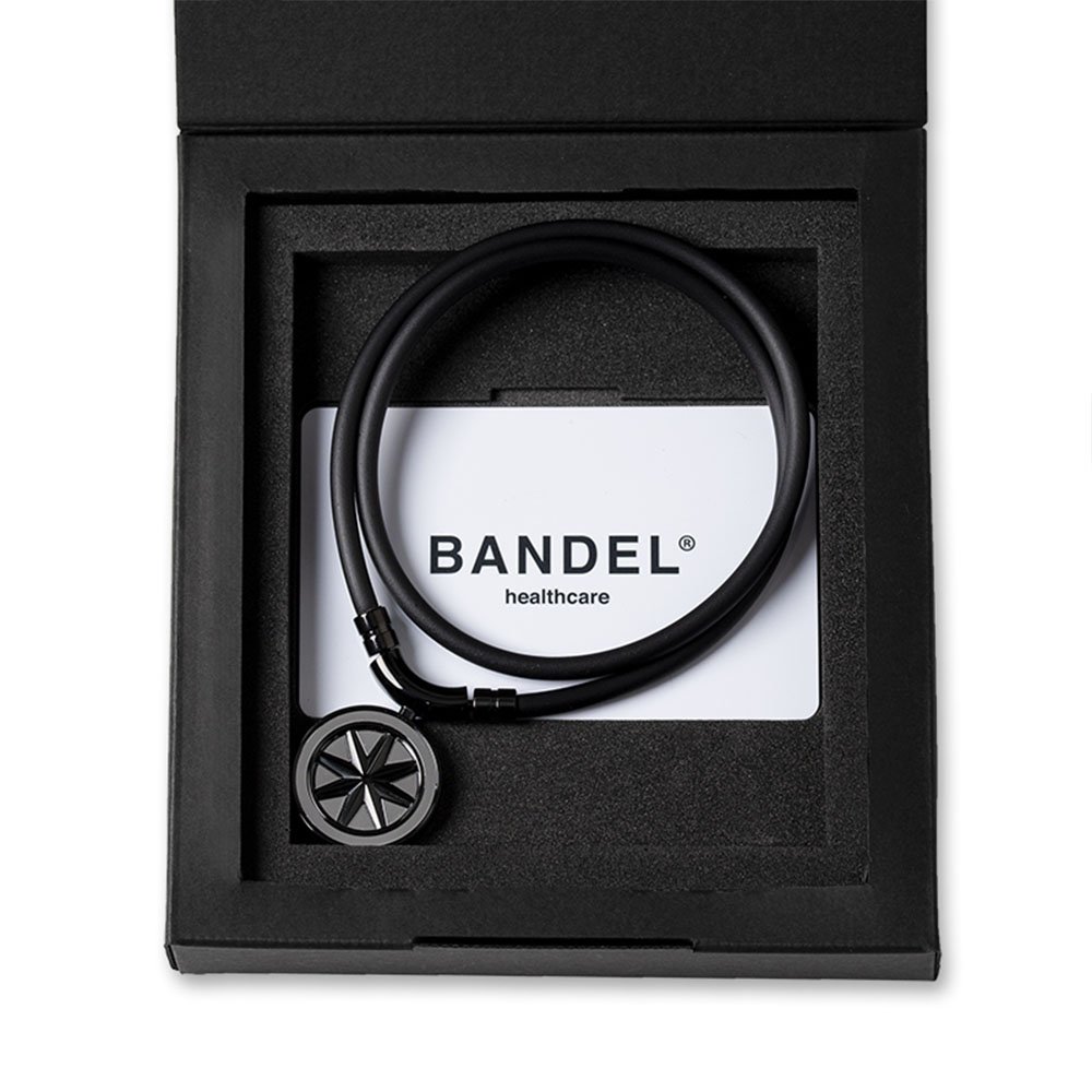 "BANDEL 磁気ネックレス Healthcare Line Earth ""Cosmic Edition"" All BlackxSilver"