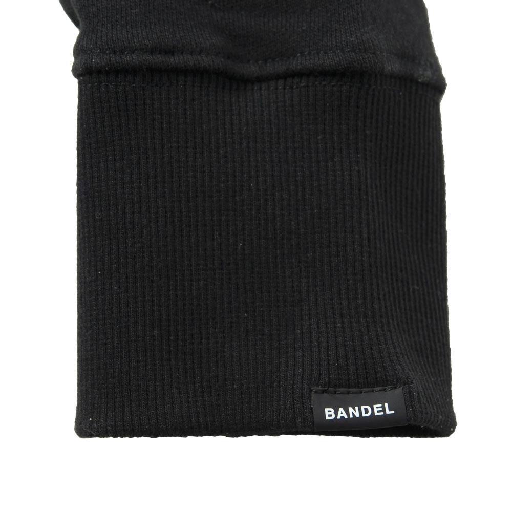 BANDEL スウェット QUIET GOLF CREW NECK BG-QTCNS001 BLACKxGRAY