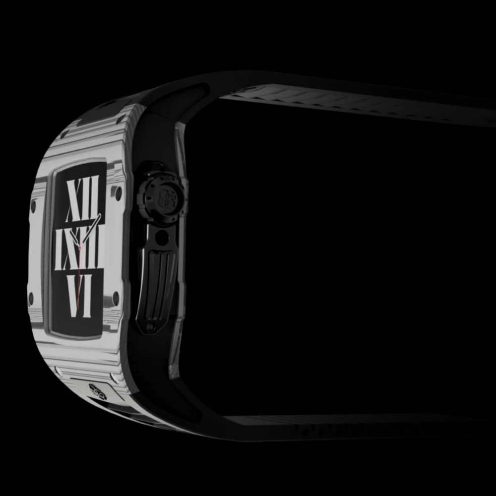 GOLDEN CONCEPT<br>Apple Watch Case-RSC44(ALBINO WHITE/BLACK TITANIUM)