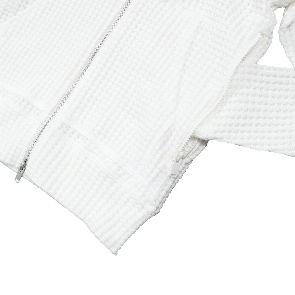 Seagreen フーディー ONI WAFFLE Hoodie WHITE