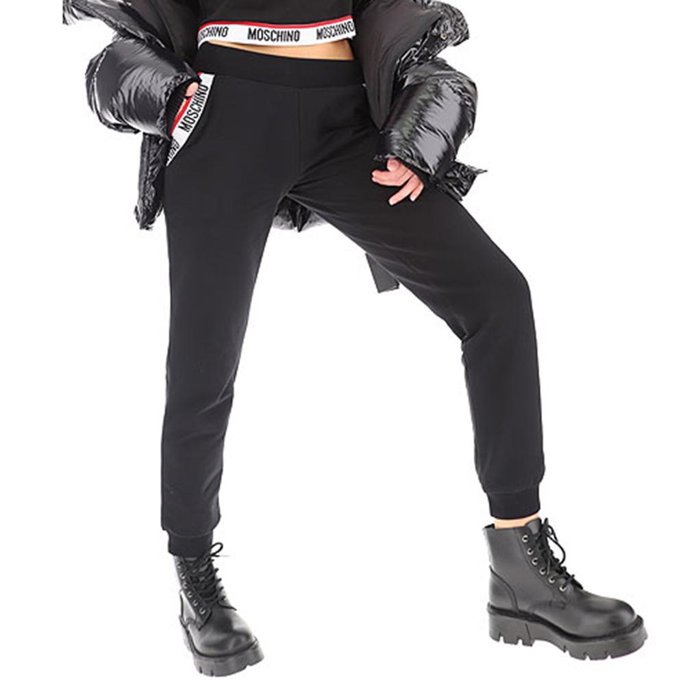 MOSCHINO スウェットパンツ ポケットロゴ A4304 レディース BLACK