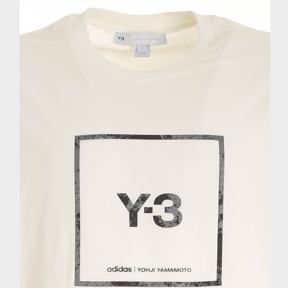 Y-3 Tシャツ U SQUARE LABEL GRAPHIC GV6061 CORE WHITE