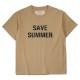 Seagreen Tシャツ ORGANIC COTTON JERSEY T-SHIRT MSEA21S8198-M  BEIGE