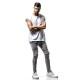 【再入荷】RESOUND CLOTHING パンツ Johnson LINE NYLON PT  GREY WHITE