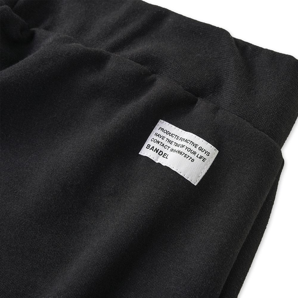 BANDEL ジョガーパンツ Woven label BAN-JP009 BLACK