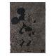 BAREFOOT DREAMS ベアフットドリームズ D104 Classic Mickey Mouse & Minnie Mouse ブランケット Cream / Carbon Black