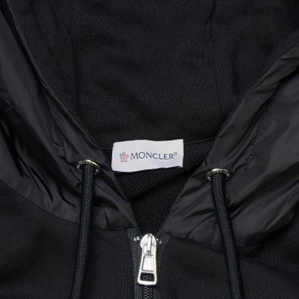 MONCLER パーカー MAGLIA 8g70200v8104 BLACK