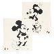 BAREFOOT DREAMS ベアフットドリームズ D105 Classic Mickey Mouse & Minnie Mouse Baby ブランケット Cream