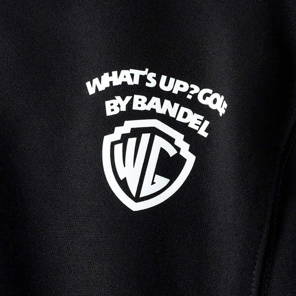 BANDEL スウェット LETTERING CREW NECK BG-IJCN001 BLACKxWHITE