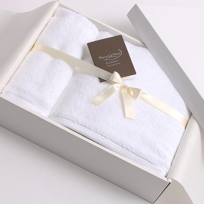 【ギフトBOX付き】Micro Cotton マイクロコットン LUXURY ラグジュアリー バスタオル・フェイスタオル SET