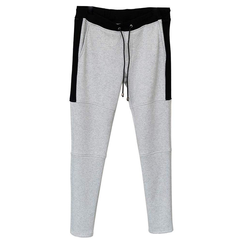 RESOUND CLOTHING パンツ line fleece PT RC18-ST-012 GREYxBLACK