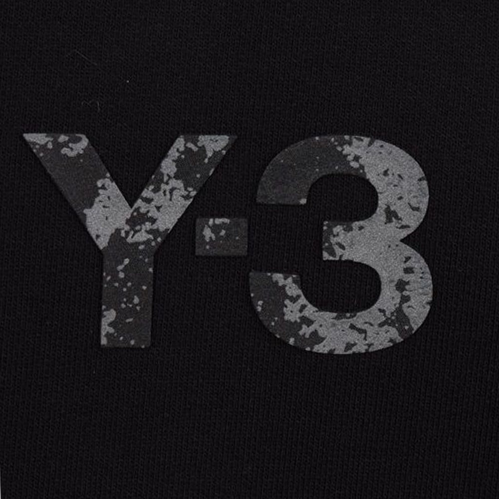 Y-3 フーディー U SQUARE LABEL GRAPHIC GV6056 BLACK