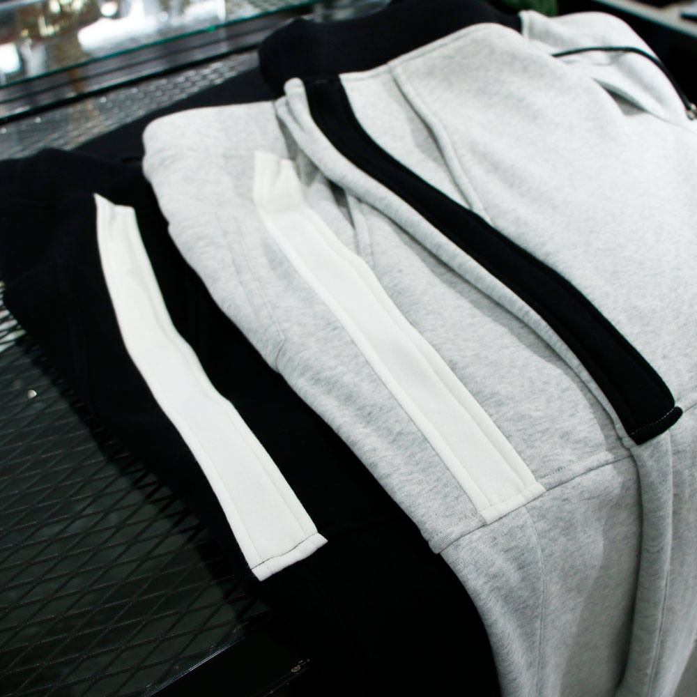 RESOUND CLOTHING パンツ line fleece PT RC18-ST-012 GREYxWHITE
