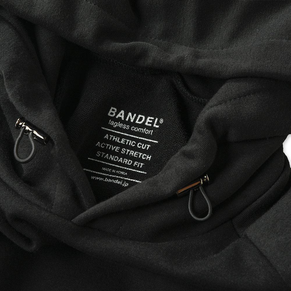 BANDEL フーディー Woven Label BAN-HD021 BLACK