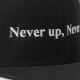 BANDEL キャップ FLAT VISOR GOLF CAP Never up,Never in BG-NUBBCP BLACKxWHITE