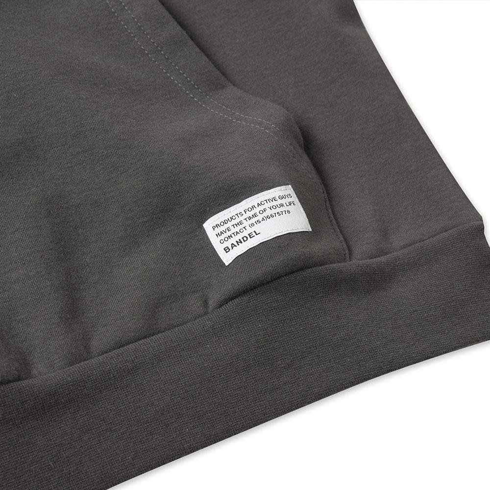 BANDEL フーディー Woven Label BAN-HD021 CHARCOAL GREY