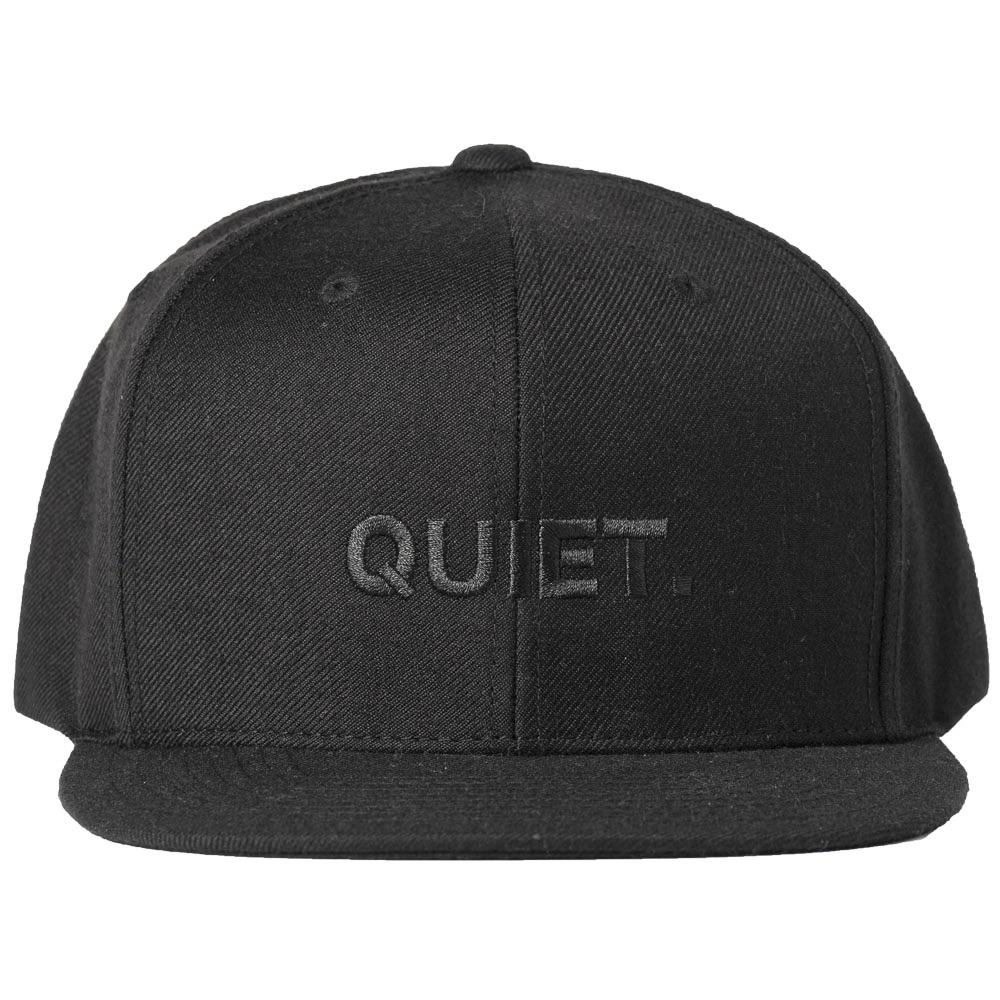 BANDEL キャップ FLAT VISOR GOLF CAP QUIET BG-QTBBCP BLACKxBLACK