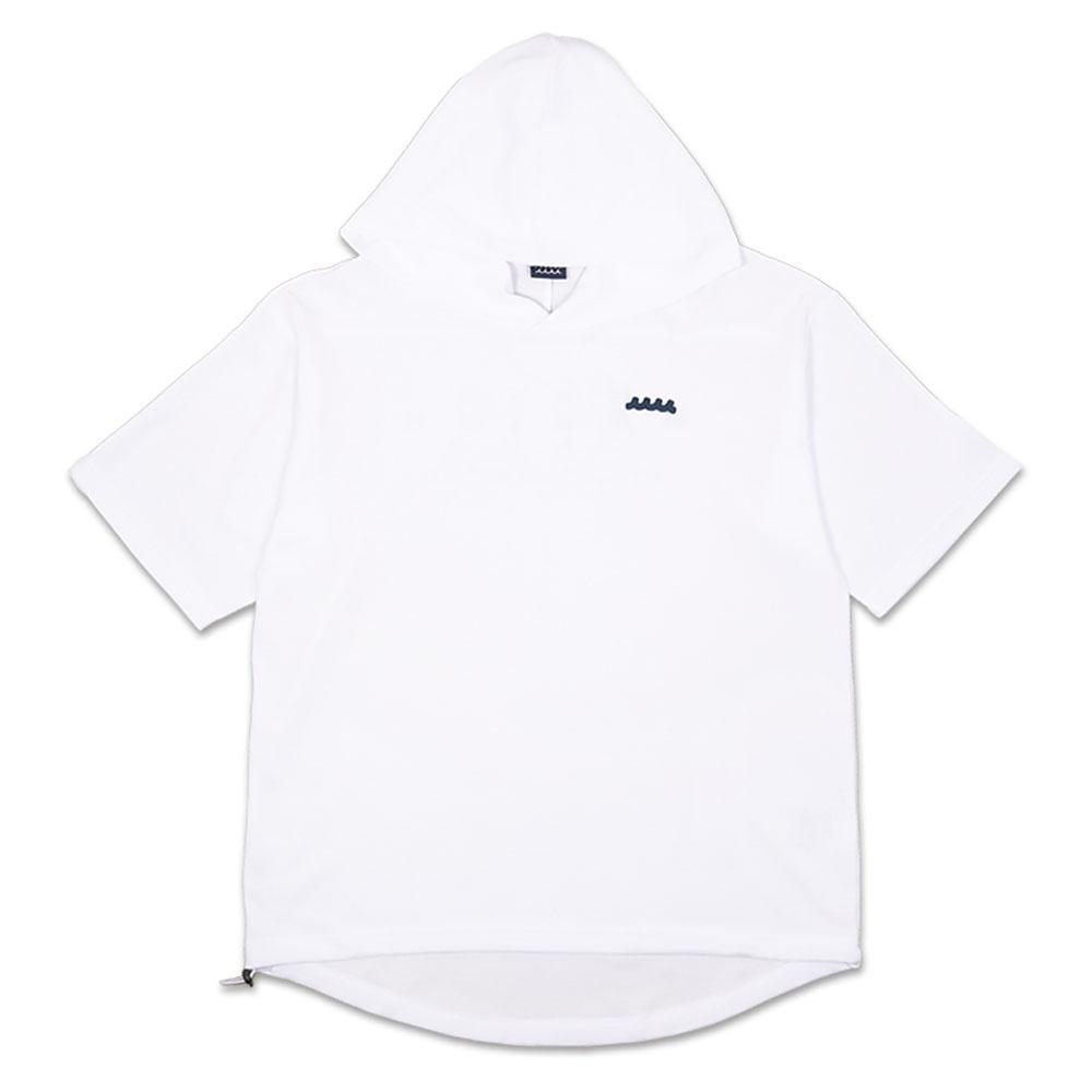 muta MARINE 半袖プルオーバーパーカー MMMK-443071 WHITE