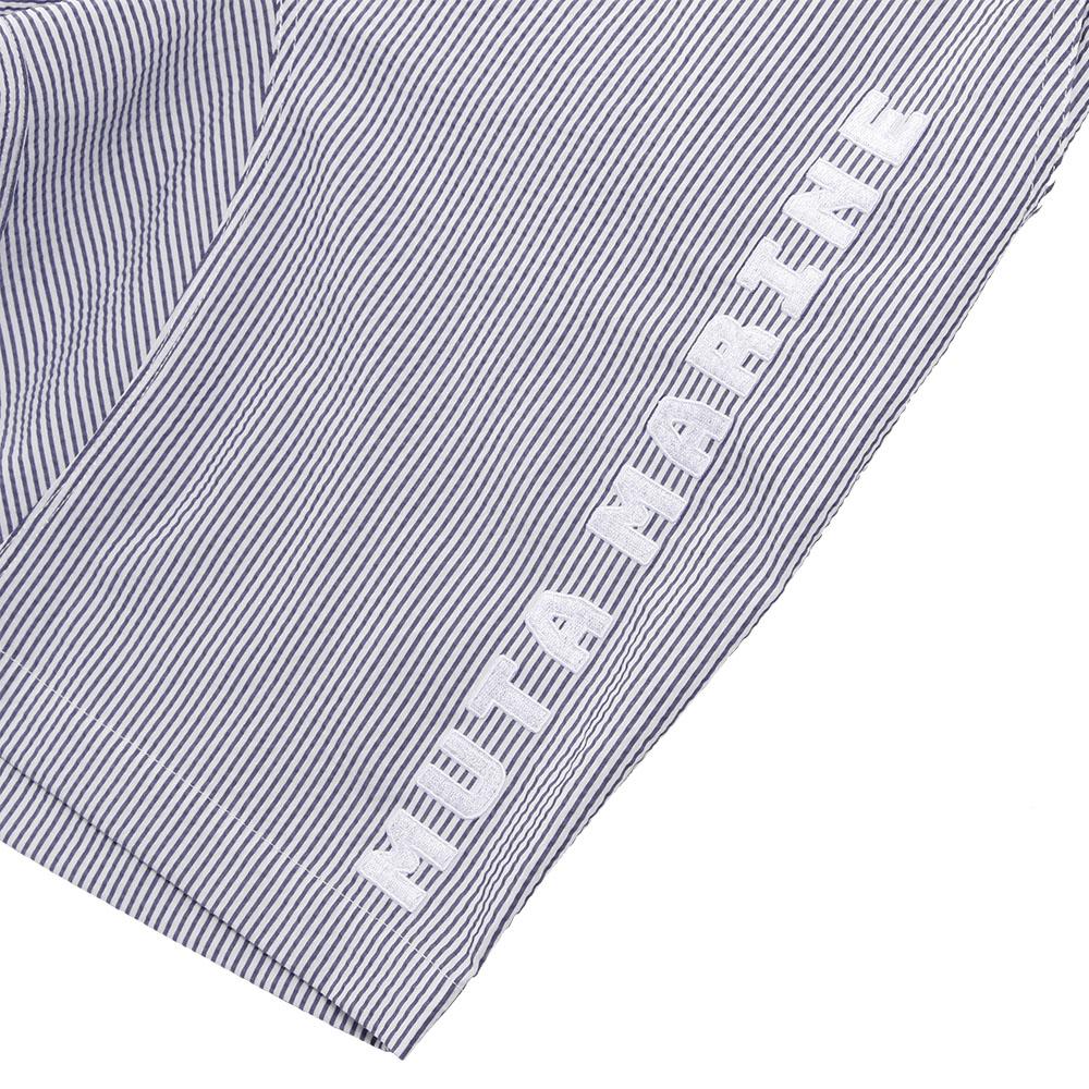 muta MARINE COOL MAX® シアサッカー ハーフパンツ MMMK-444062 NAVYxWHITE