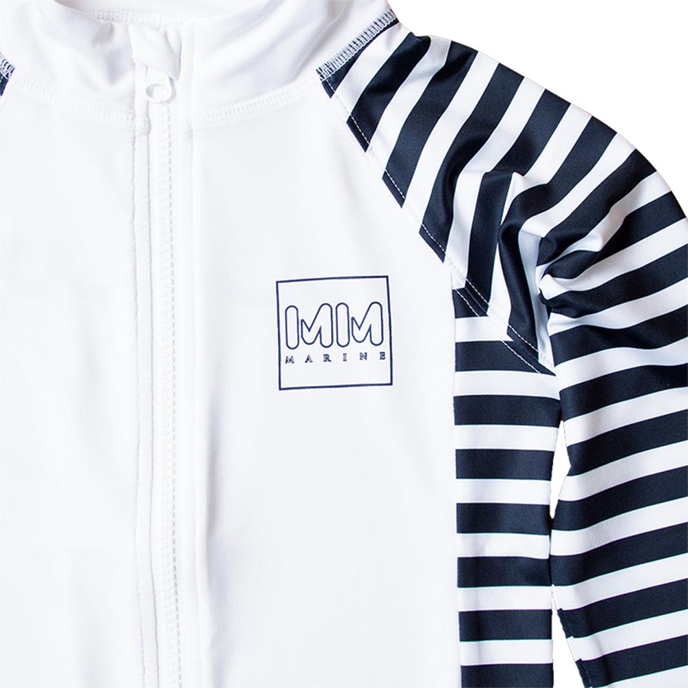 muta MARINE ムータ キッズ ラッシュスタンドパーカー MMTK-435021 WHITE