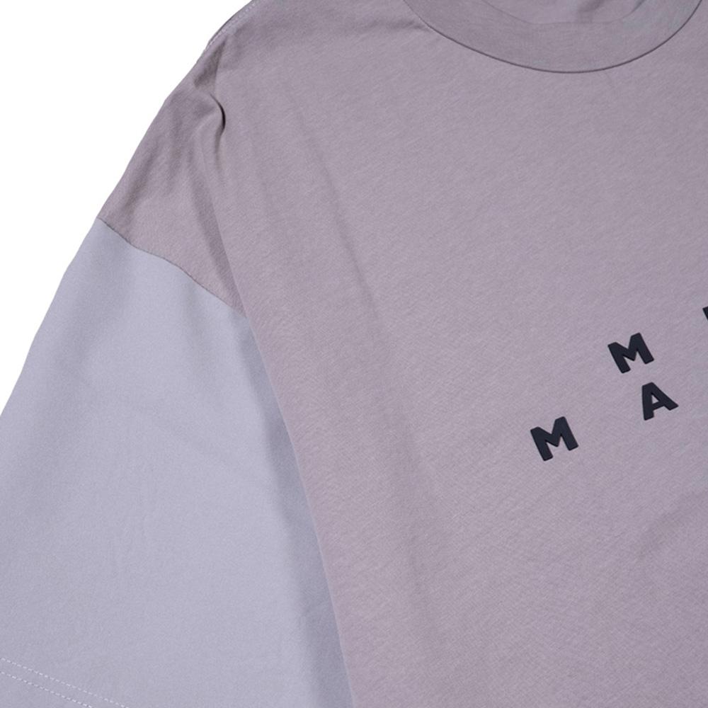 muta MARINE Tシャツ スリーブ切替 MMBC-200847 GREY