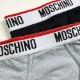 MOSCHINO ブリーフパンツ ウエストロゴ A4707 GREY