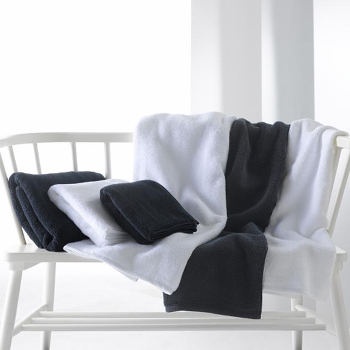 Micro Cotton マイクロコットン LUXURY ラグジュアリー ミニバスタオル WHITE/BLACK