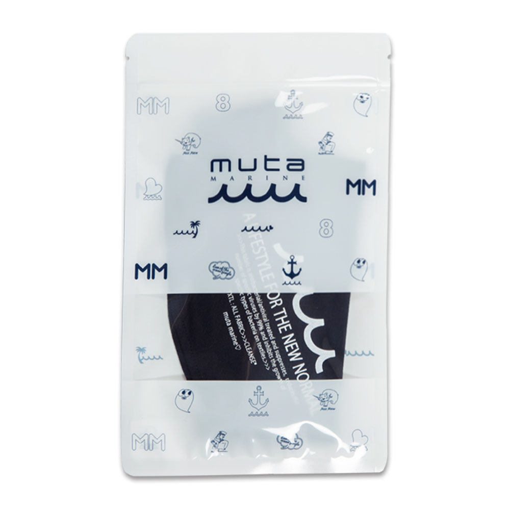 muta MARINE CLEANSEネックマスクガード LETTERD MMJC-652021 BLACK