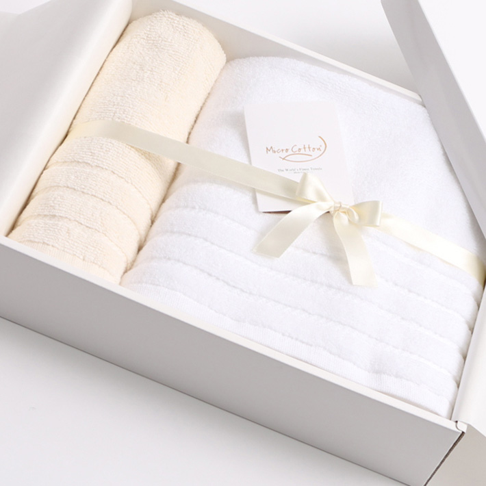 【ギフトBOX付き】Micro Cotton マイクロコットン REGULAR レギュラー バスタオル・フェイスタオル SET