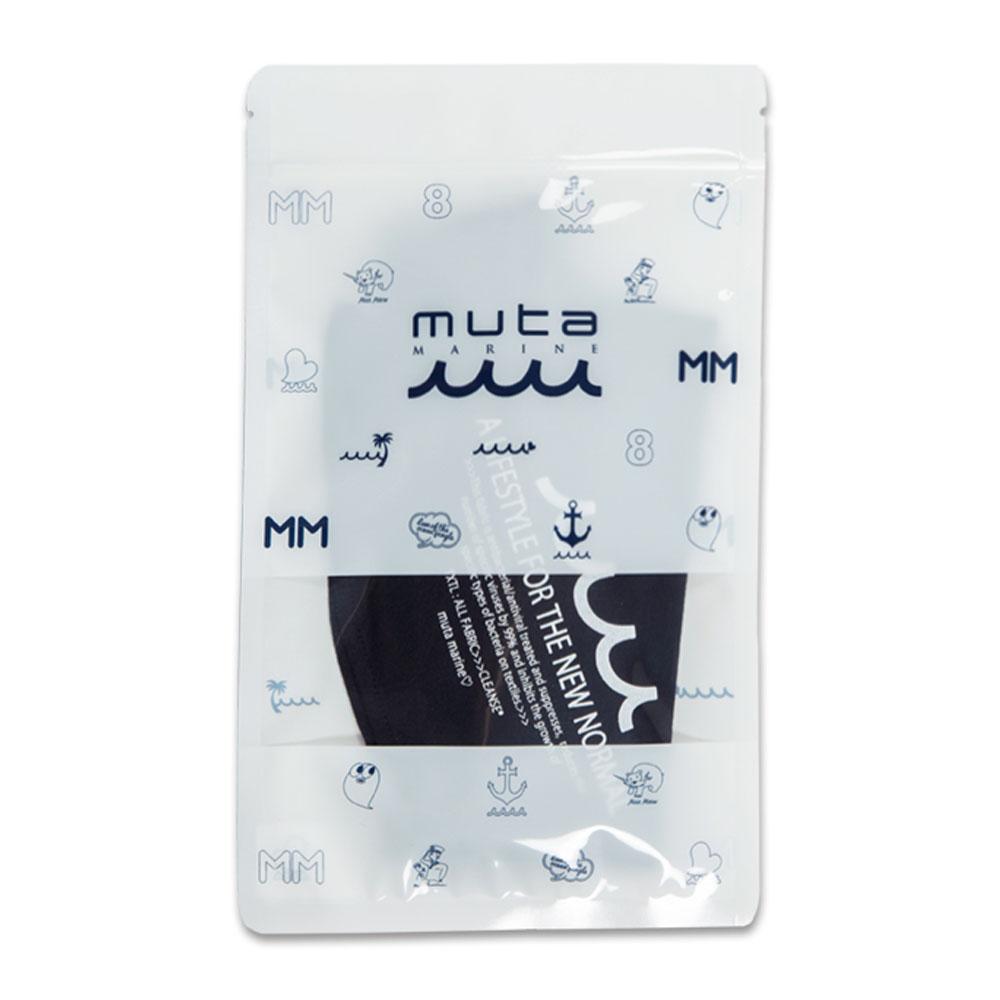 muta MARINE CLEANSEネックマスクガード LETTERD MMJC-652021 NAVY