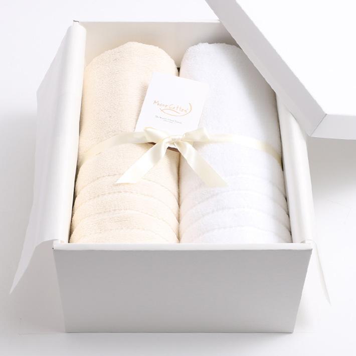 【ギフトBOX付き】Micro Cotton マイクロコットン REGULAR レギュラー バスタオル 2枚SET