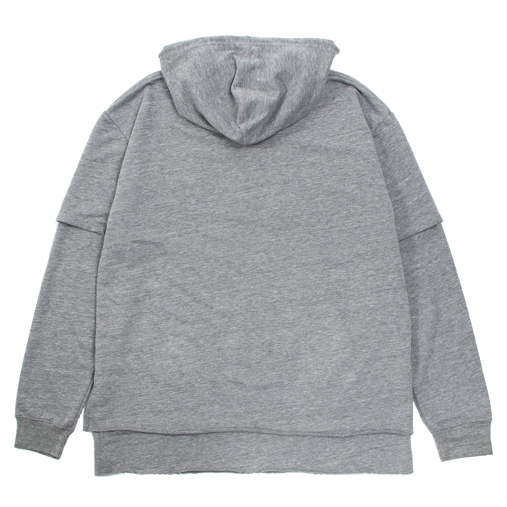 STAMPD フーディー DOUBLE LAYERED HOODIE SLA-M2157HD HEATHER GREY