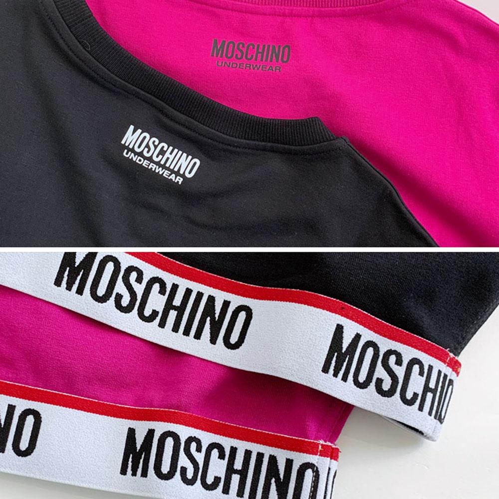MOSCHINO スウェット ウエストロゴ A1701 レディース BLACK