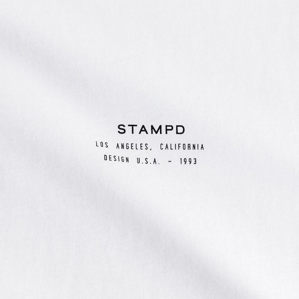 STAMPD Tシャツ Stacked Logo Perfect Tee SLA-M2706TE WHITE