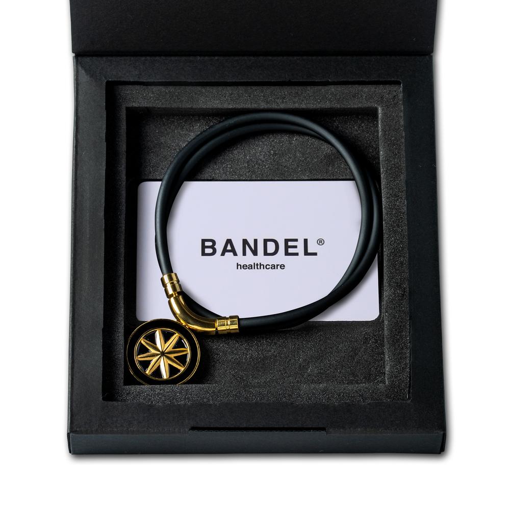 BANDEL 磁気ネックレス Healthcare Line EARTH BLACKxGOLD
