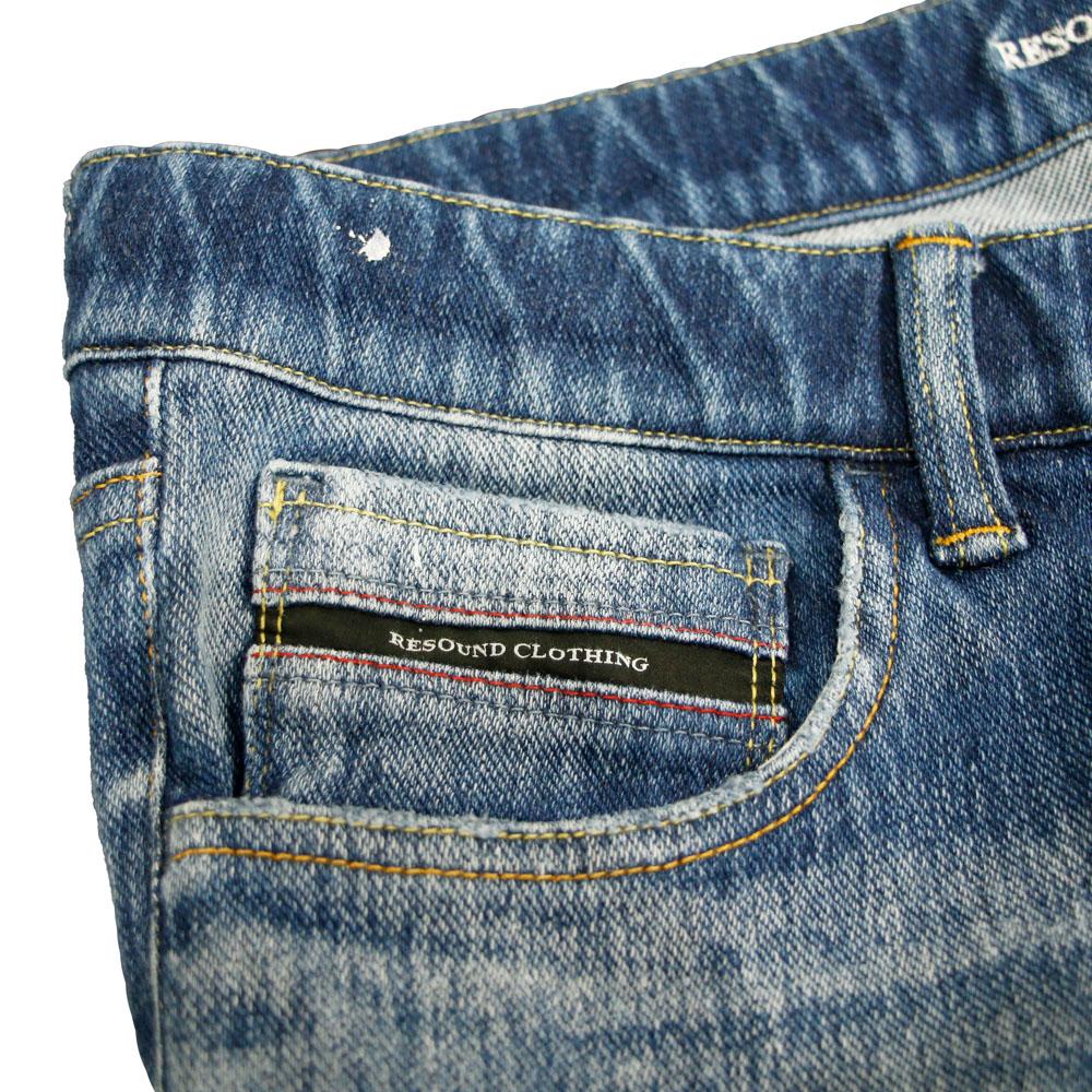 【予約】 RESOUND CLOTHING パンツ Blind DENIM JERSEY RC18-ST-019 INDIGO C