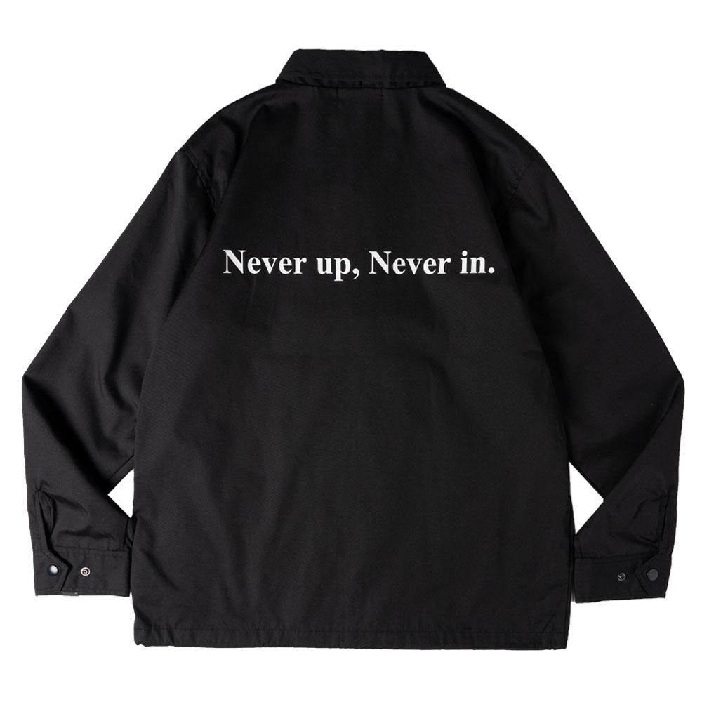 BANDEL ジャケット Never up, Never in COACH JKT BG-NUCJ001 BLACKxWHITE