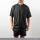 BANDEL Tシャツ QUIET BACKPRINT MOC TEE BG-MTQT001 BLACK