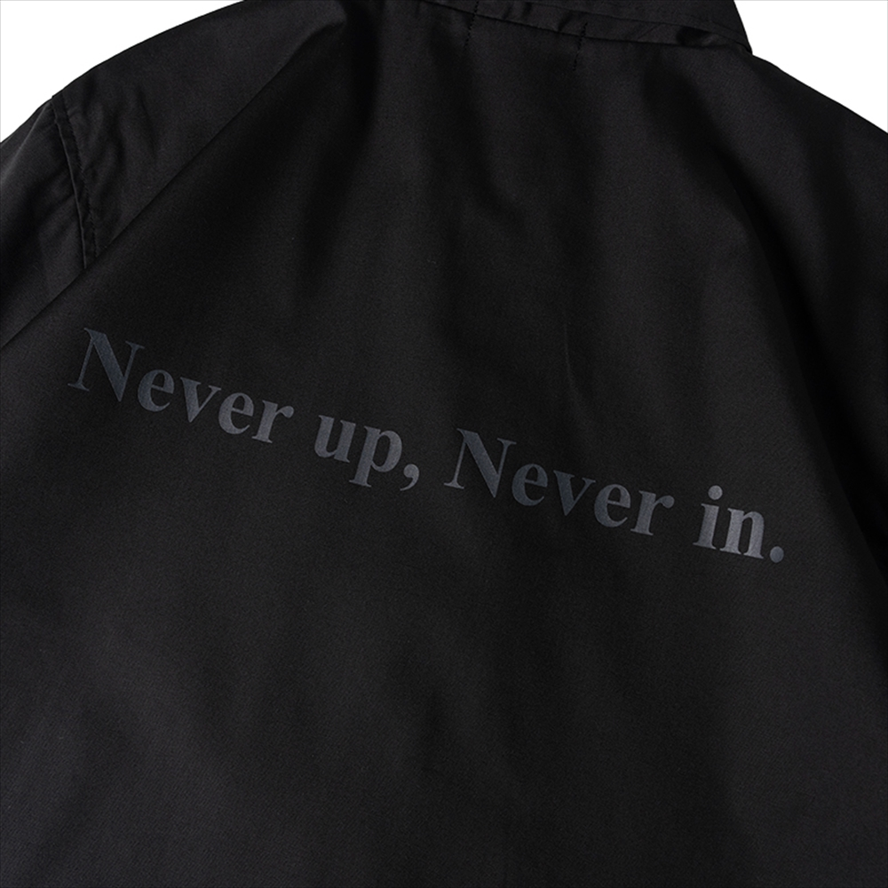 BANDEL ジャケット Never up, Never in COACH JKT BG-NUCJ001 BLACKxGRAY