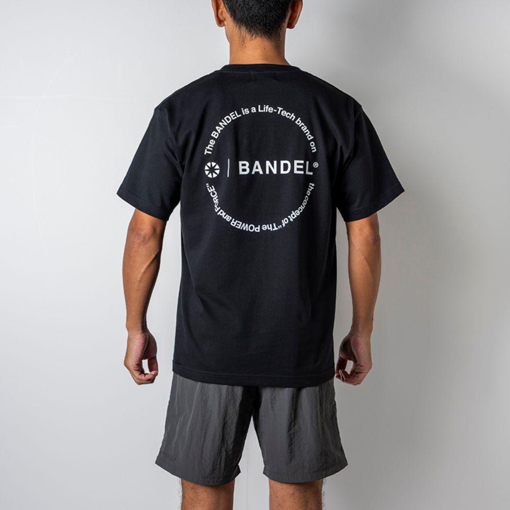 BANDEL Tシャツ Circle-Logo Short Sleeve T BAN-T023 Black x White