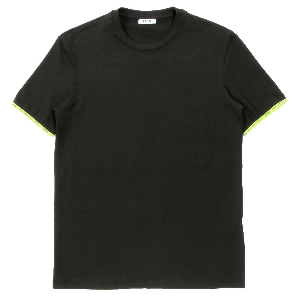 MSGM UNDERWEAR Tシャツ CREW NECK SHIRT MM.M20.005 BLACKxYELLOW