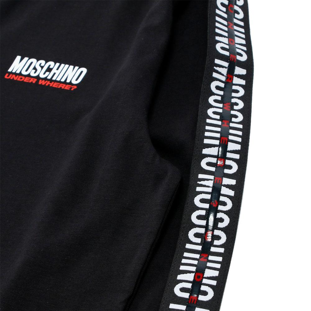 MOSCHINO UNDERWEAR ロンT 18028131555 BLACK