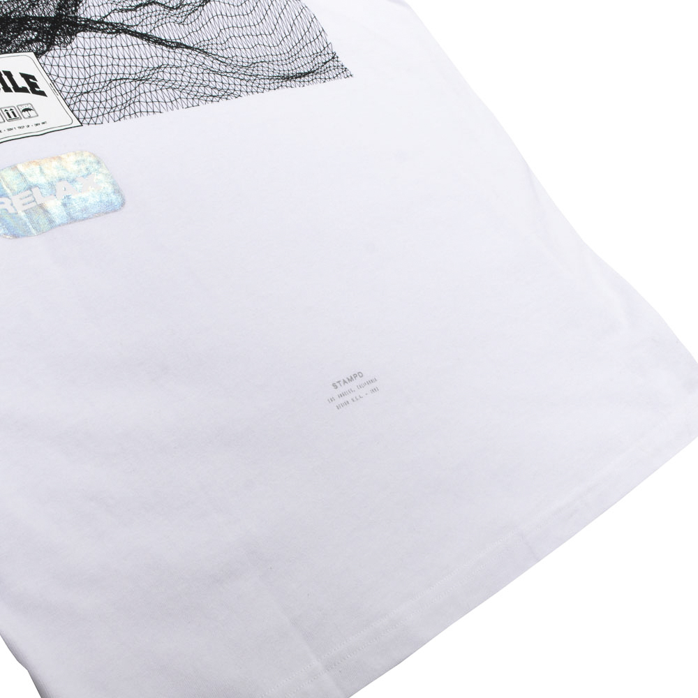 STAMPD Tシャツ Empty Wave Relaxed Tee SLA-M2707TE WHITE
