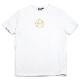muta MARINE Tシャツ グリッター CIRCL MMMP-434196 WHITE