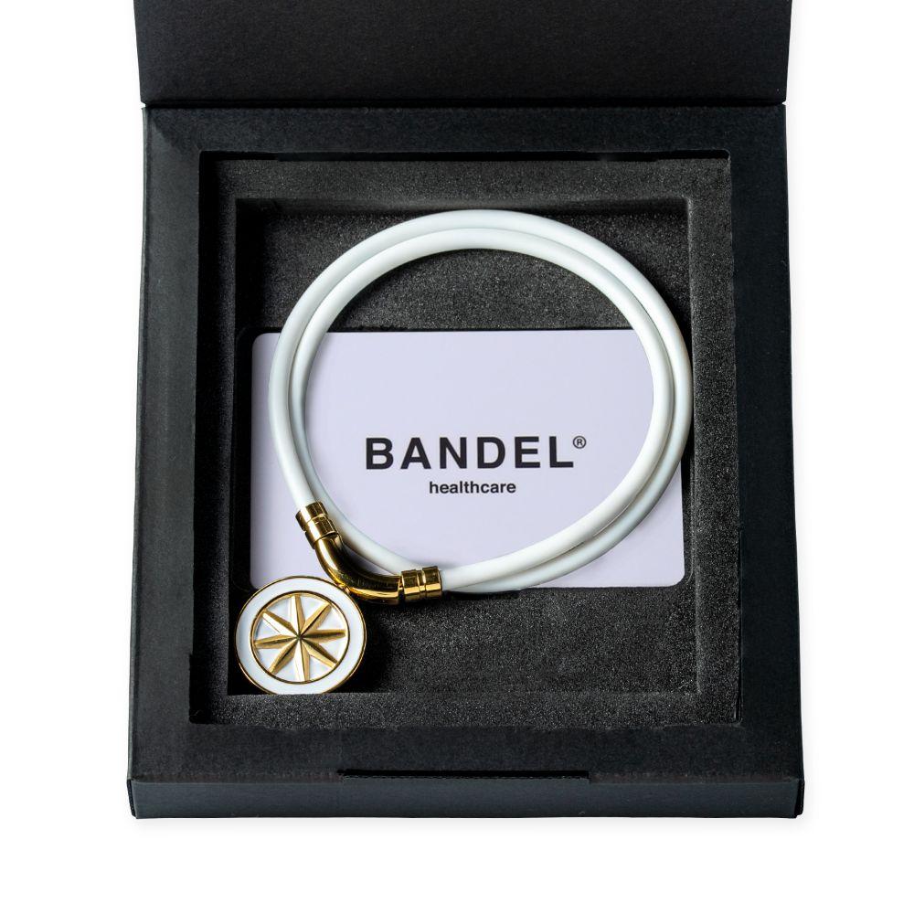 BANDEL 磁気ネックレス Healthcare Line EARTH WHITExGOLD