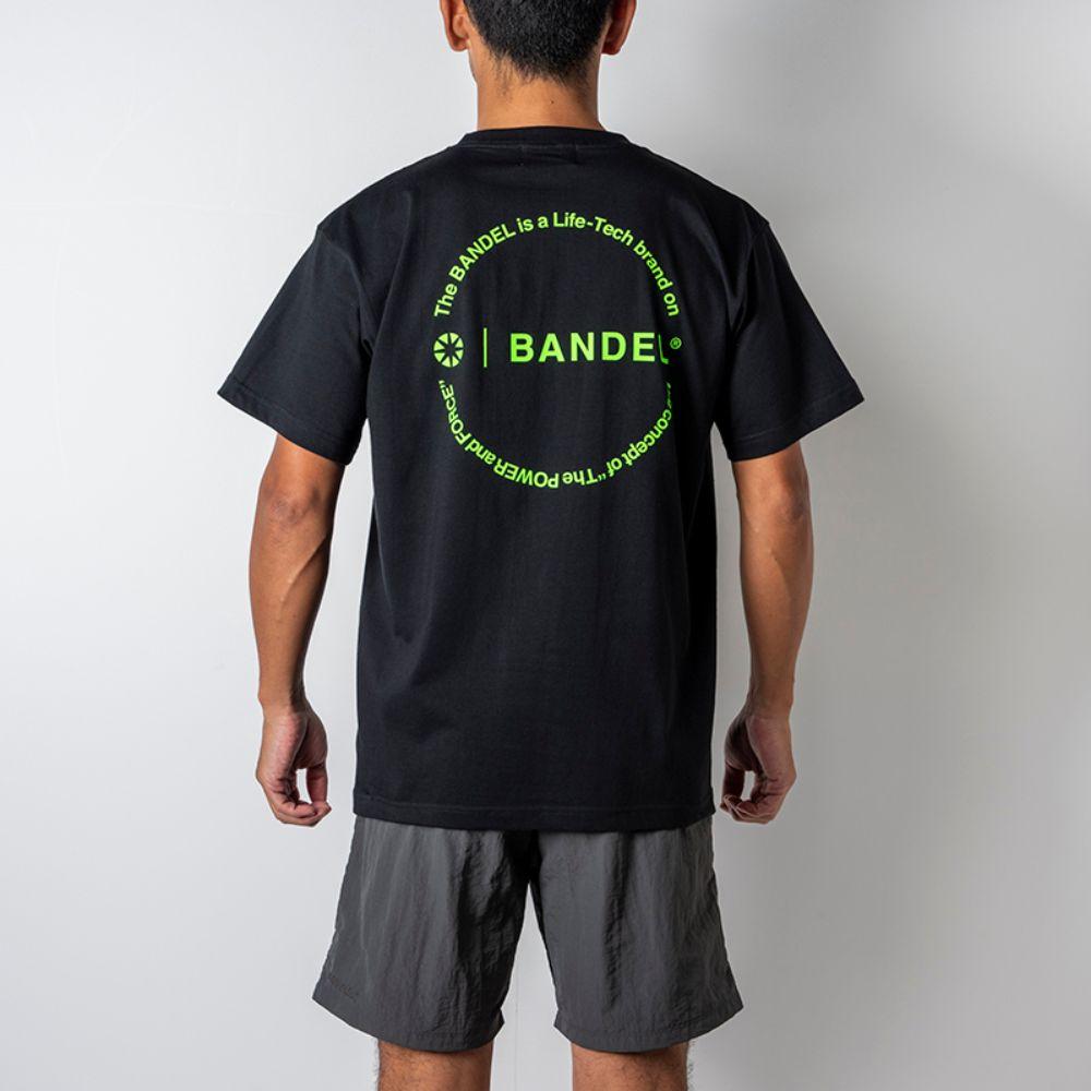 BANDEL Tシャツ Circle-Logo Short Sleeve T BAN-T023 Black x Neon Yellow