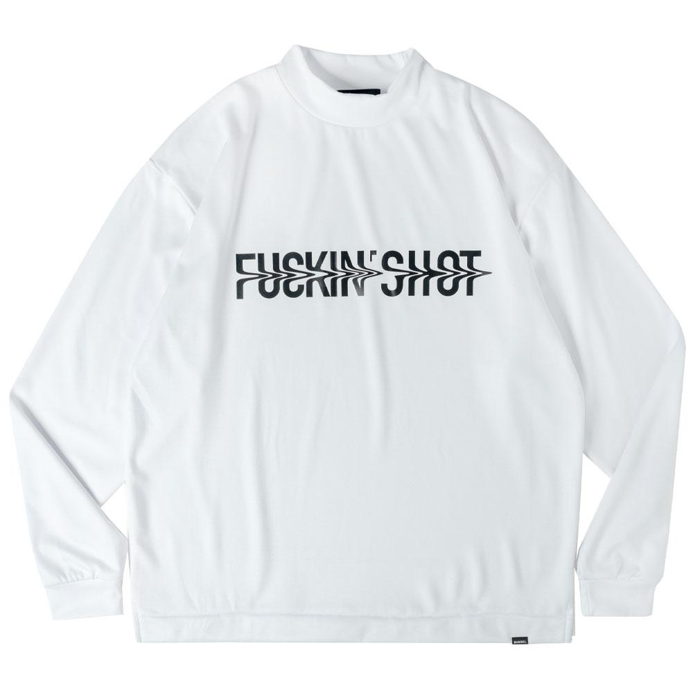 BANDEL ロンT FUCKIN' SHOT L/S MOC TEE BG-FSML001 WHITExBLACK