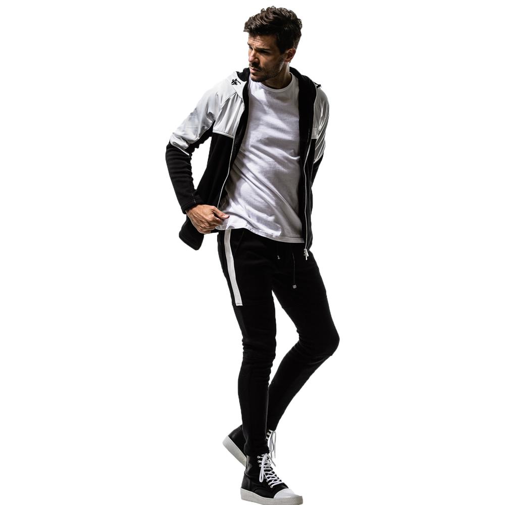 RESOUND CLOTHING フーディー WARM-UP fleece ZIP Hoodie RC14-C-001 WHITExBLACK