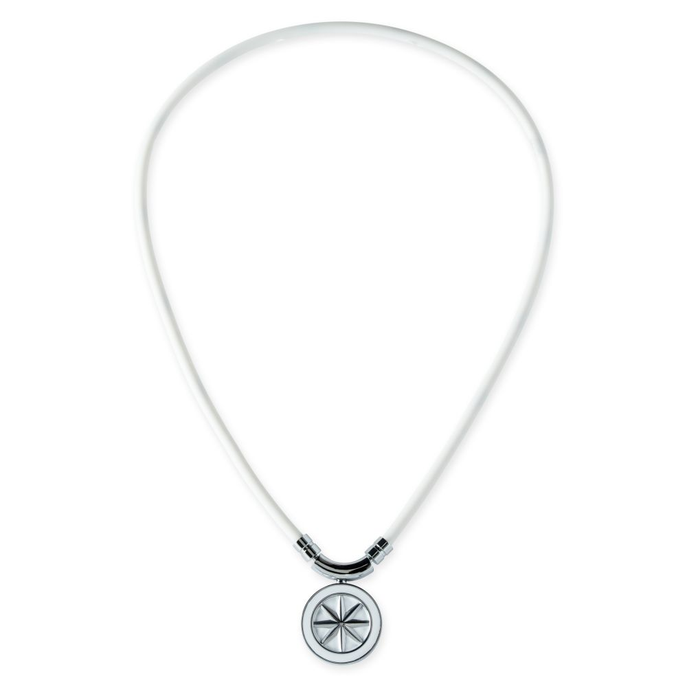 BANDEL 磁気ネックレス Healthcare Line EARTH WHITExSILVER